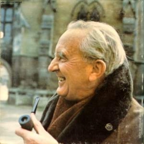 JRR Tolkien smoking pipe back cover photo The Hobbit